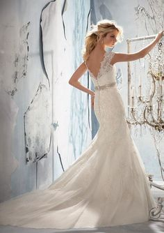 Sweetheart Lace Wedding Dress Mermaid Wedding Dress