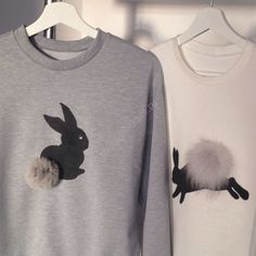 Pom Pom Bunny tail sweaters