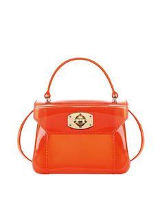 bolso de mujer naranja en gomagel