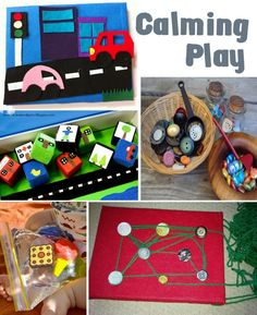 Activities for calming play and for playing before bed...