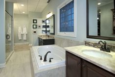 Love The Clean Lines And The Wall Between Shower And Tub Master - Bathroom renovation sequence