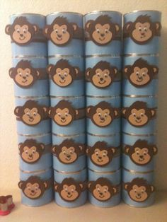formula cans for party favor buckets- birthday idea. Something to do with all the free sample cans we have. But what to do with the formula? Baby Food Jar Crafts, Baby Food Jars, Baby Crafts, Crafts For Kids, Baby Formula Containers, Baby Formula Cans, Formula Can Crafts, Twin Boys Birthdays, 1st Birthday Parties