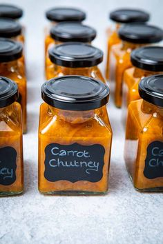 You can make this easy carrot chutney recipe from scratch. It calls for oranges, carrots, ginger & many more. Use a grater and a zester to make this edible gift. Spicy Carrots, Roasted Carrots, Canning Recipes, Gourmet Recipes, Carrot Recipes, Carrot Jam Recipe, Carrot Dishes, Xmas Recipes, Orange Recipes