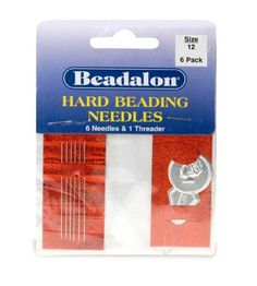 Beadalon Hard Needles 12  12 Pieces  2 Threader * Continue to the product at the image link.