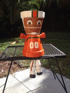 University of Miami Hurricane Football Player Pot Person  on Etsy, $37.00