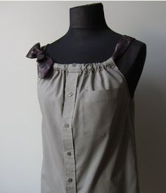 WinnerDogFinds: Upcycled Mens shirt - maybe add a elastic and make it more empire waist?