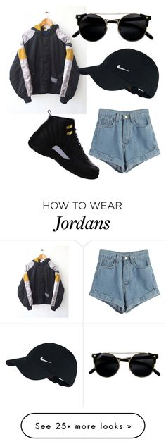 """"" by lauryng2002 on Polyvore featuring adidas, WithChic and NIKE"