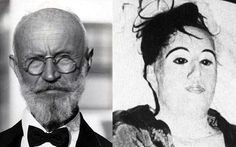 Carl Tanzler & Elena Hoyos. he was a radiologist who met Elena Hoyos in 1930 before she was diag with tuberculosis. He fell in love with pretty young Cuban & tried to cure her. But, she died a year later. Proving that love has no bounds, Carl dug up her corpse & stole the body after her burial & brought her to his home. He attached the rotting body together with wire, silk, wax & plaster & kept her in his bed for 7 years. Carl would have sex with her corpse buy using a strategically placed tube.