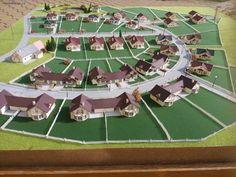 Developerský projekt vel.120x120 cm,jedná se o 28 různých rodinných domů,2x trafostanice,ploty,makety lamp,jehličnany ve velikosti N Soccer, Futbol, European Football, European Soccer, Football, Soccer Ball