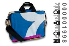 MyOneAndOnly DELOS 1998 Laptop bag made from reused banners. Each bag is unique and has a number for it. Eco Friendly Bags, Laptop Bag, Bag Making, Banners, Number, Unique, Accessories, Design, Banner