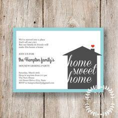 DIY + Free Template! Housewarming Invites | Housewarming invitations