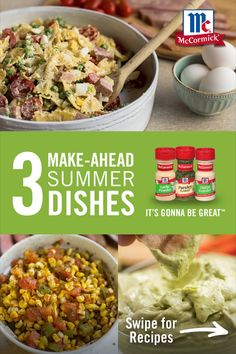Spend less time in the kitchen and more time outside with the family with these three easy make-ahead summer dishes! Grilling Recipes, Beef Recipes, Vegetarian Recipes, Chicken Recipes, Cooking Recipes, Healthy Recipes, Easy Summer Meals, Summer Recipes, Easy Meals