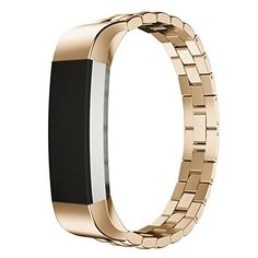Sunfei Accessories Band Small,Luxury Genuine Stainless Steel Watch Band For Fitbit Alta Tracker (Gold) ** Details can be found by clicking on the image. (This is an affiliate link) #FitnessTracker