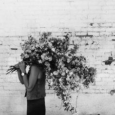 "heather-page: "" Working hard / hardly working. All hail spirea! #winnipeg #florist #foraged #spirea #bouquet #flowers #floral #flowers (at Winnipeg, Manitoba) """