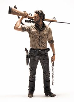 I so want this!!!! Walking Dead TV Rick Grimes 10-Inch Deluxe Action Figure