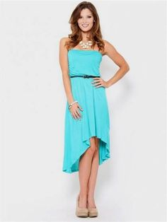 Nice strapless high low summer dresses