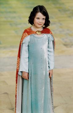 I love this dress.  Making a doll-sized remake of it was one of my favorite sewing projects yet. :)  Lucy's Coronation Gown and Cape, #Narnia