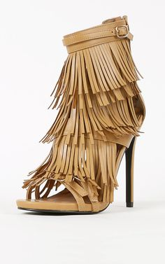 Privileged Melko Strappy Heels in Tan