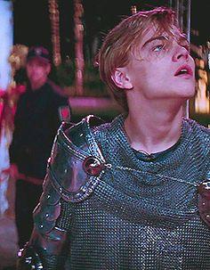 """Leonardo DiCaprio (Romeo Montague) in """"Romeo + Juliet"""" (1996)"""