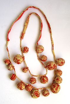 Catherine McEver - Alchemy: From Nostalgia to Necklace - fabric beads from old dress