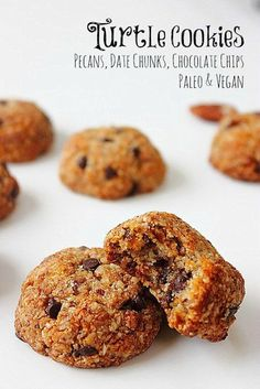 Ultimate Paleo Cookies! Chewy, chocolate chip turtle cookies!!! #grainfree #vegan Try stop at one!