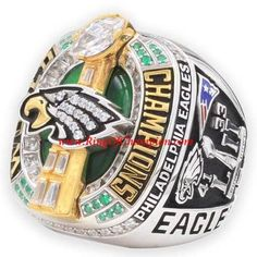 Excited to flaunt your support for the favorite team through personalized 2018 NHL Champions Ring? Discover the varied array ofcustomized championship rings, with models at RingofChampion, the online retailer. We offer the productsat exciting discounts! Stanley Cup Rings, Superbowl Champions, World Series Rings, Eagles Super Bowl, School Cheerleading, Philadelphia Eagles Fans, Super Bowl Rings, Stanley Cup Playoffs, Moda Masculina