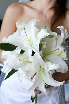 Bridal Boquet, White Casablanca Lillies