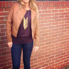 Love this necklace and love the brown faux!!