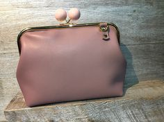 Soft Pink Leather Purse | Purse Clasp | Custom Made Purse | Sew Easy™ | Pins&Needles Haberdashery Emporium
