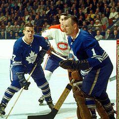 Johnny Bower & Tim Horton #hockey #Toronto_Maple Leafs @N17DG
