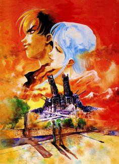 Macross II, Hibiki & Ishtar, by Haruhiko Mikimoto