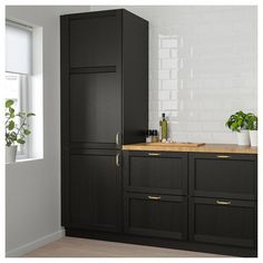 LERHYTTAN Door - black stained - IKEA Always aspired to be able to knit, nonetheless unsure the place to start? That Absolute Beginner Knitting Series is exac. Kitchen Doors, Kitchen Walls, Kitchen Fixtures, Kitchen Counters, Kitchen Cabinetry, Kitchen Curtains, Kitchen Flooring, Cozy Kitchen, Rustic Kitchen