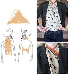 What a cute idea that I never thought of! Style a scarf into a shirt. I do <3 giraffes! From the Fossil Blog