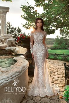 Mon Blan wedding dress by BELFASO ONLY at Charmé Gaby Bridal Gown boutique Clearwater FL
