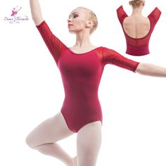 Find More Ballet Information about Wholesale Women's Burgundy Mid Sleeve Ballet Leotards Cotton Dancing Clothes Adult Gymnastics Leotards (5 pieces/lot) B0007 2,High Quality ballet leotards,China adult gymnastic leotards Suppliers, Cheap gymnastics leotard from Love to dance on Aliexpress.com