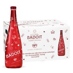Badoit Rouge Verre 12x75 cL Edition Noël Chiara Ferragni