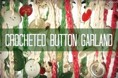Spool and Spoon: Crocheted Button Garland