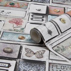 Graham & Brown Fresco Apothecary Drawers Wallpaper | Departments | DIY at B&Q