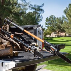 This Remington Electric Pole Saw extends your capacity to reach overhead branches up to high with an adjustable telescoping pole, depending on user height. Fall Clean Up, Logging Equipment, Branches, Outdoor Power Equipment, Electric, Power Tools, Amp, Shops, Magazine