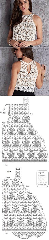 Crochet lace tops summer