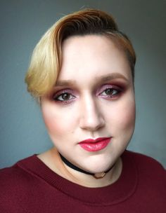 Makeup look of my latest post wearing allover red <3 www.dressingoutsidethebox.com