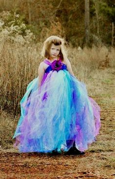 Cool purple and blue dresses for girls