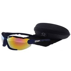 Oakley Men'S Sunglasses Pink-Orange Iridium Blue