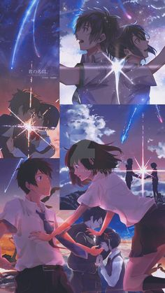 Kimi no Nawa Wallpaper Mobile by on DeviantArt Your Name Anime, Anime Background, Anime Romance, Anime Wallpaper Iphone, Anime Backgrounds Wallpapers, Your Name Wallpaper, Anime Films, Cute Anime Wallpaper, Aesthetic Anime