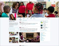 Das neue twitter Design am Beispiel von Michelle Obama. The new twitter Design.