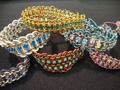 eureka crystal beads rolo chain leather cord rhinestone chain bracelets DIY