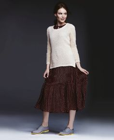 Try rocking a knit sweater over a dress for Fall, Maison Jules