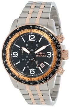 Invicta Men's 13965 Specialty Chronograph Black Dial Two Tone Stainless Steel Watch Invicta,http://www.amazon.com/dp/B00ATUM7SO/ref=cm_sw_r_pi_dp_.amMsb1NSJ933M7F