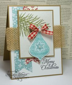 Country Blue Christmas/FS359 by whippetgirl - Cards and Paper Crafts at Splitcoaststampers