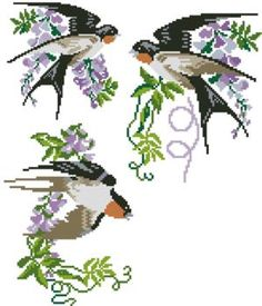 Advanced Embroidery Designs - Swallow Set